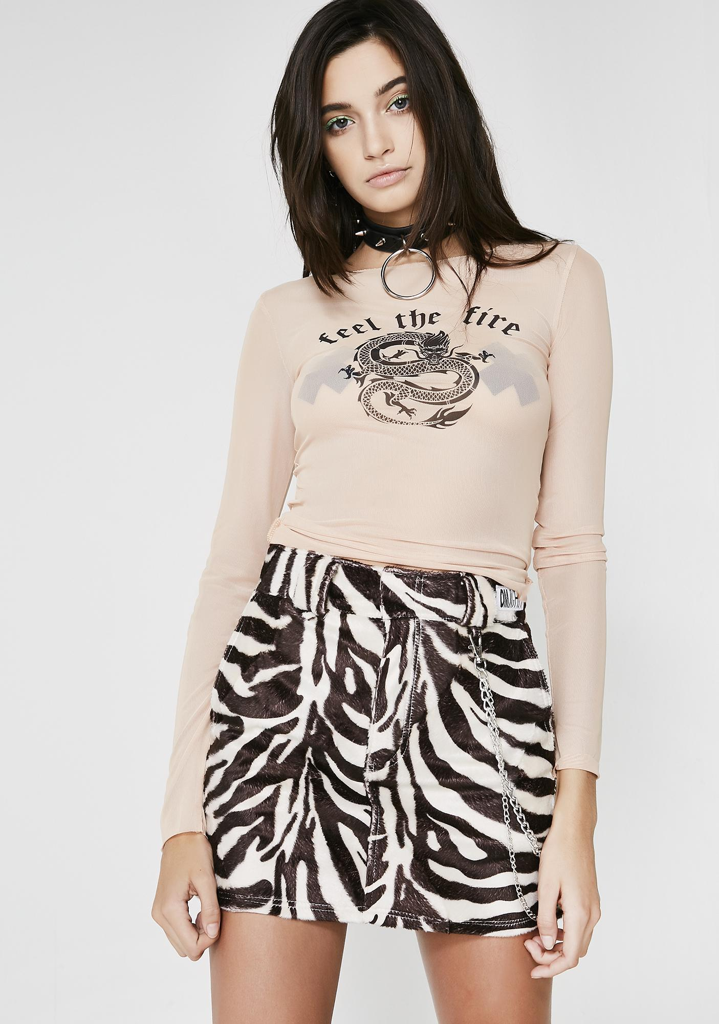 O Mighty Zebra Chain Skirt