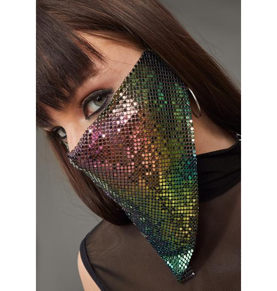 Poster Grl Keeping Secrets Chainmail Face Mask