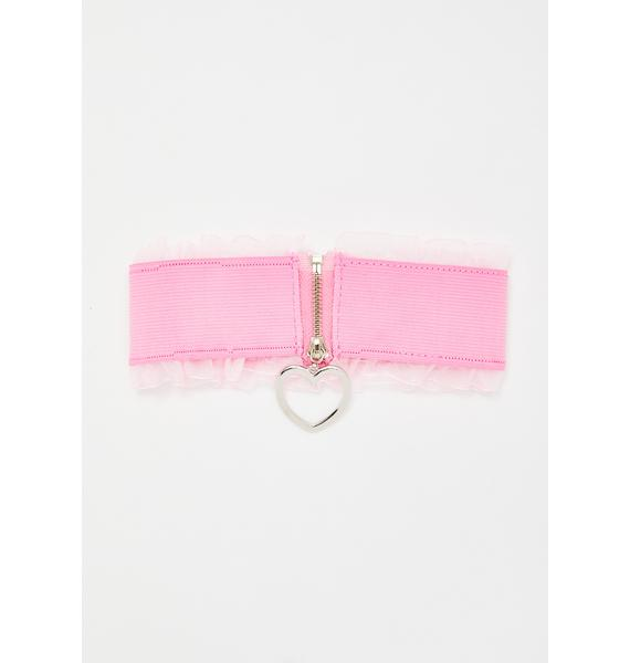 Teenage Drama Queen Heart Choker