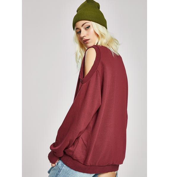 Lookin' For Trouble Cut-Out Sweatshirt