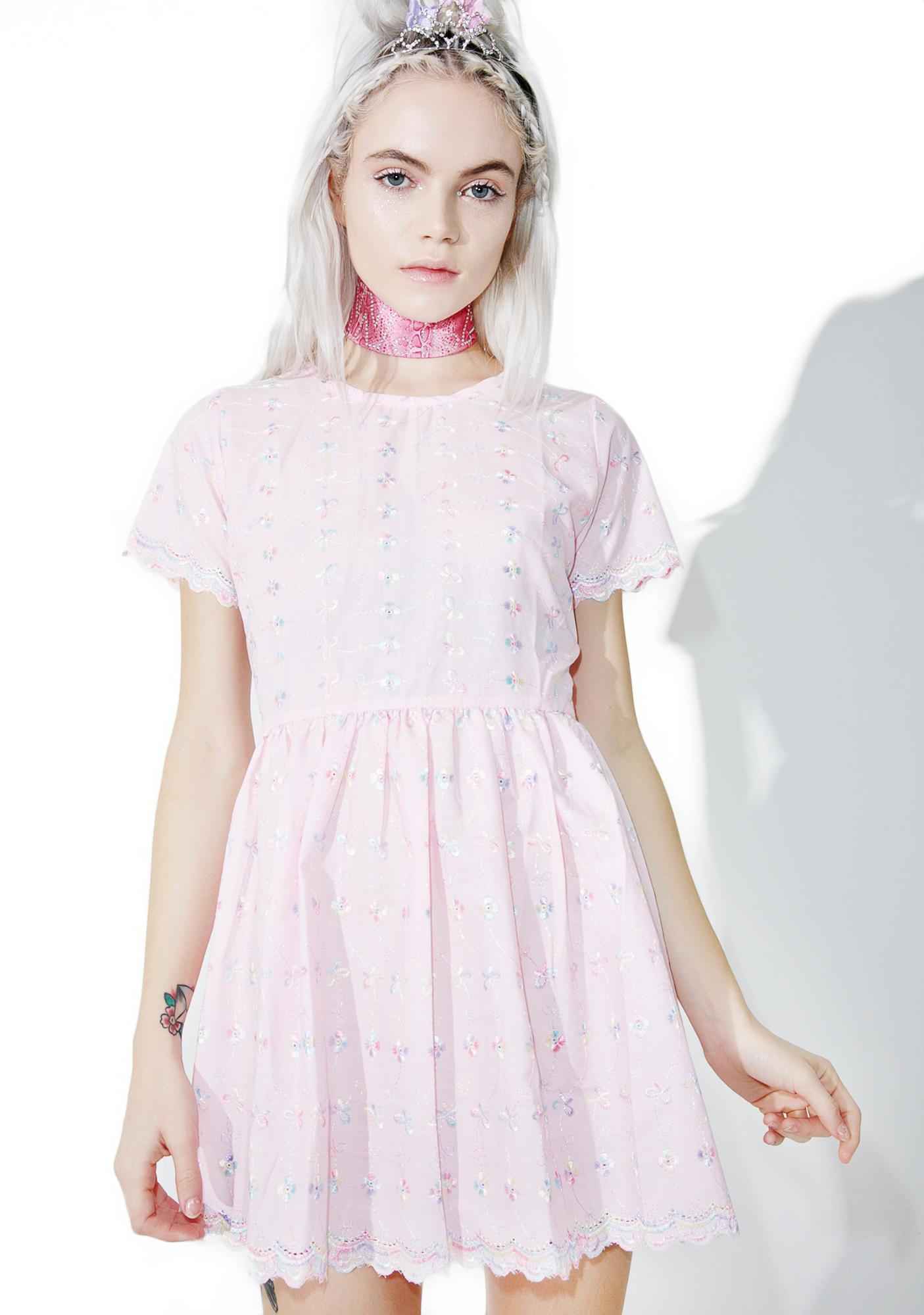 Pink Eyelet Babydoll Dress  34f1a6f6a