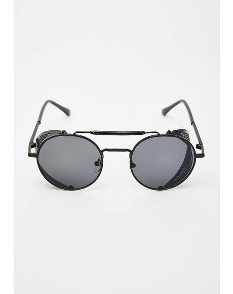 Hyperfocus Caged Circle Sunglasses