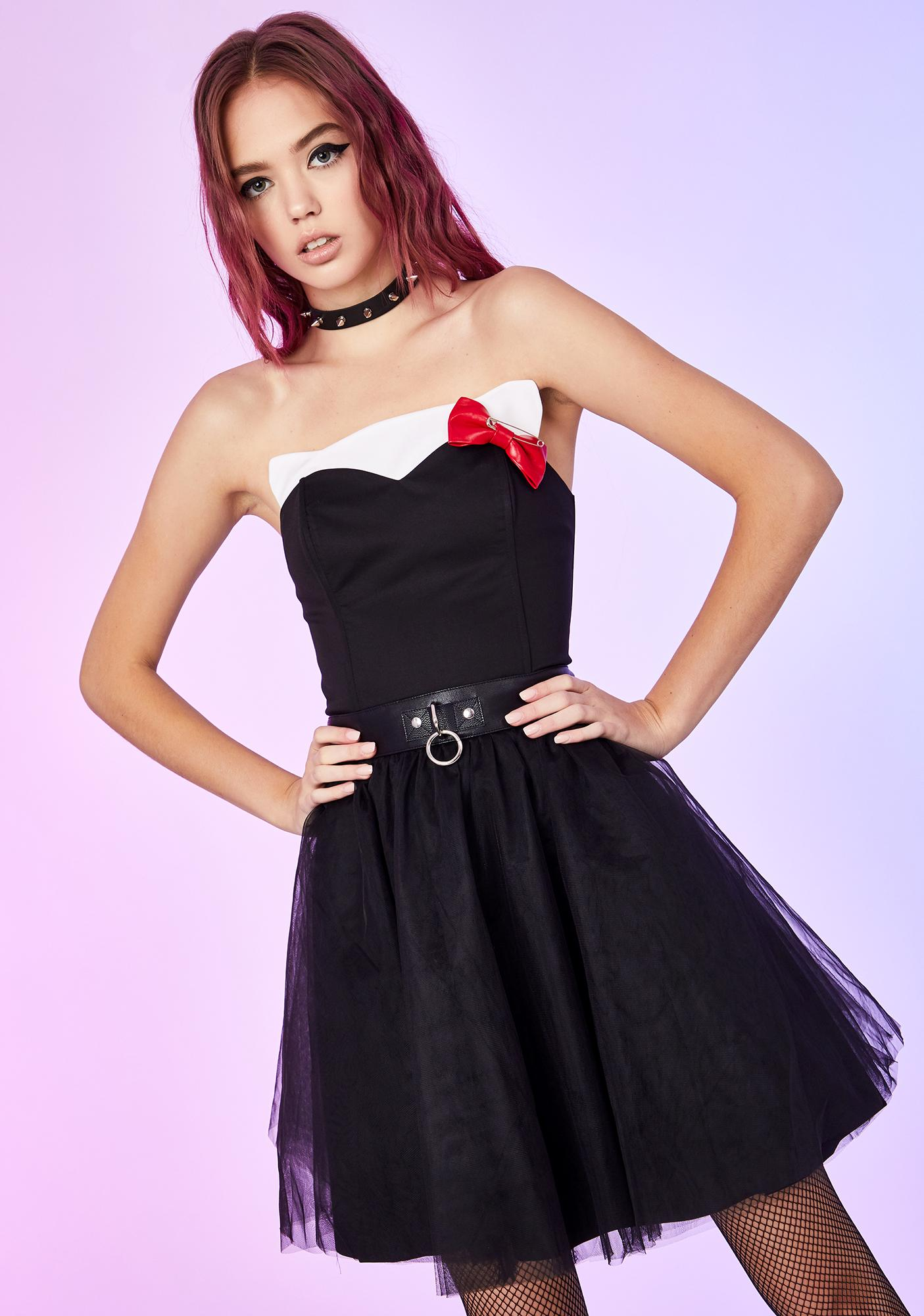 Dolls Kill x Hello Kitty Out Of Pocket Princess Mini Dress