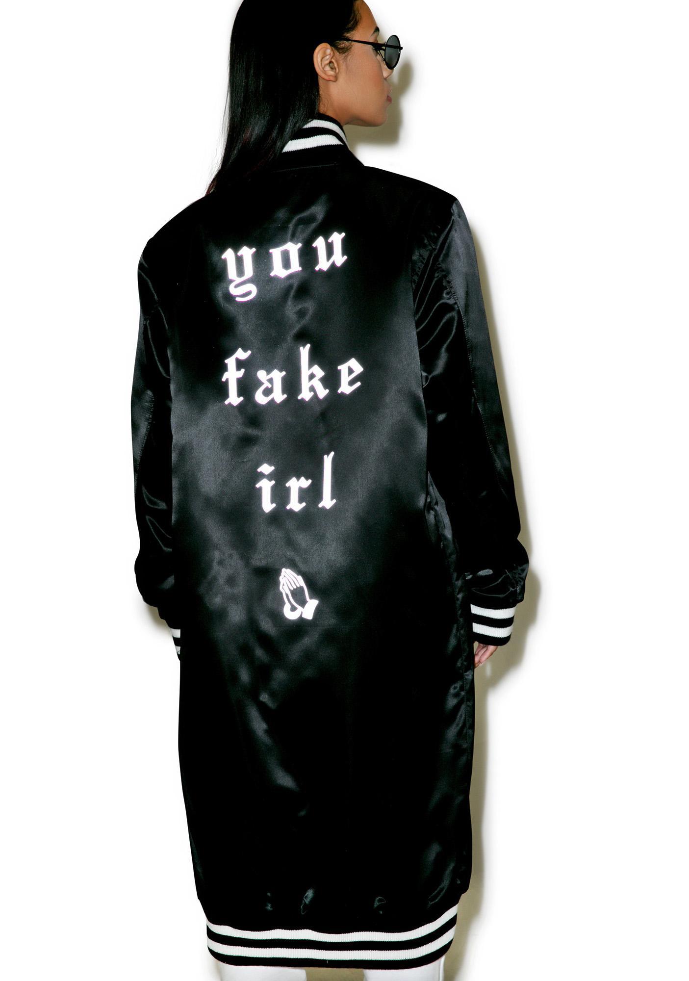 Demian Renucci You Fake IRL Long Coach Jacket