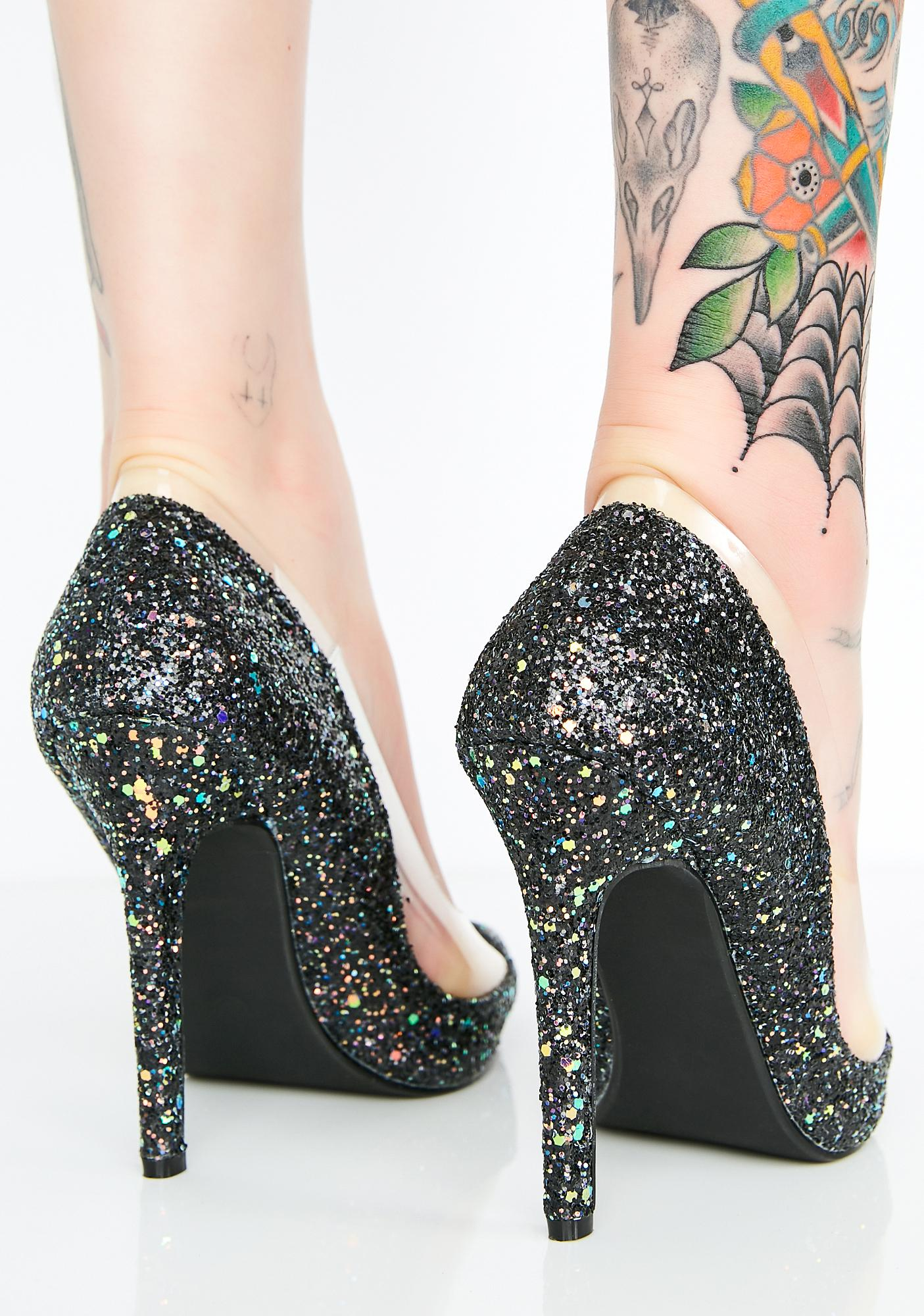 Star Of The Show Glitter Pumps