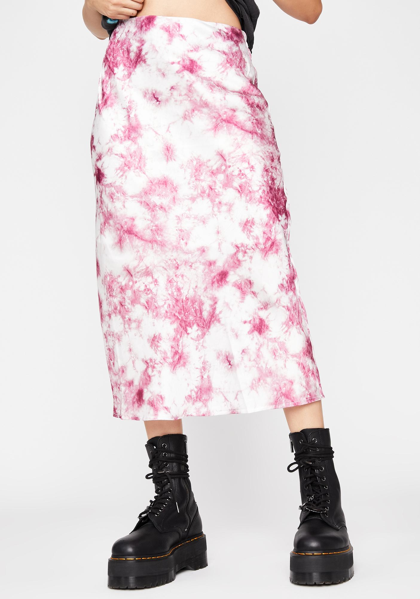 Sweet Cotton Candy Skies Midi Skirt