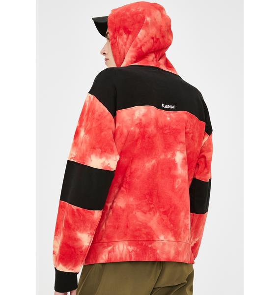 XLARGE Red Overdye Pullover Hoodie