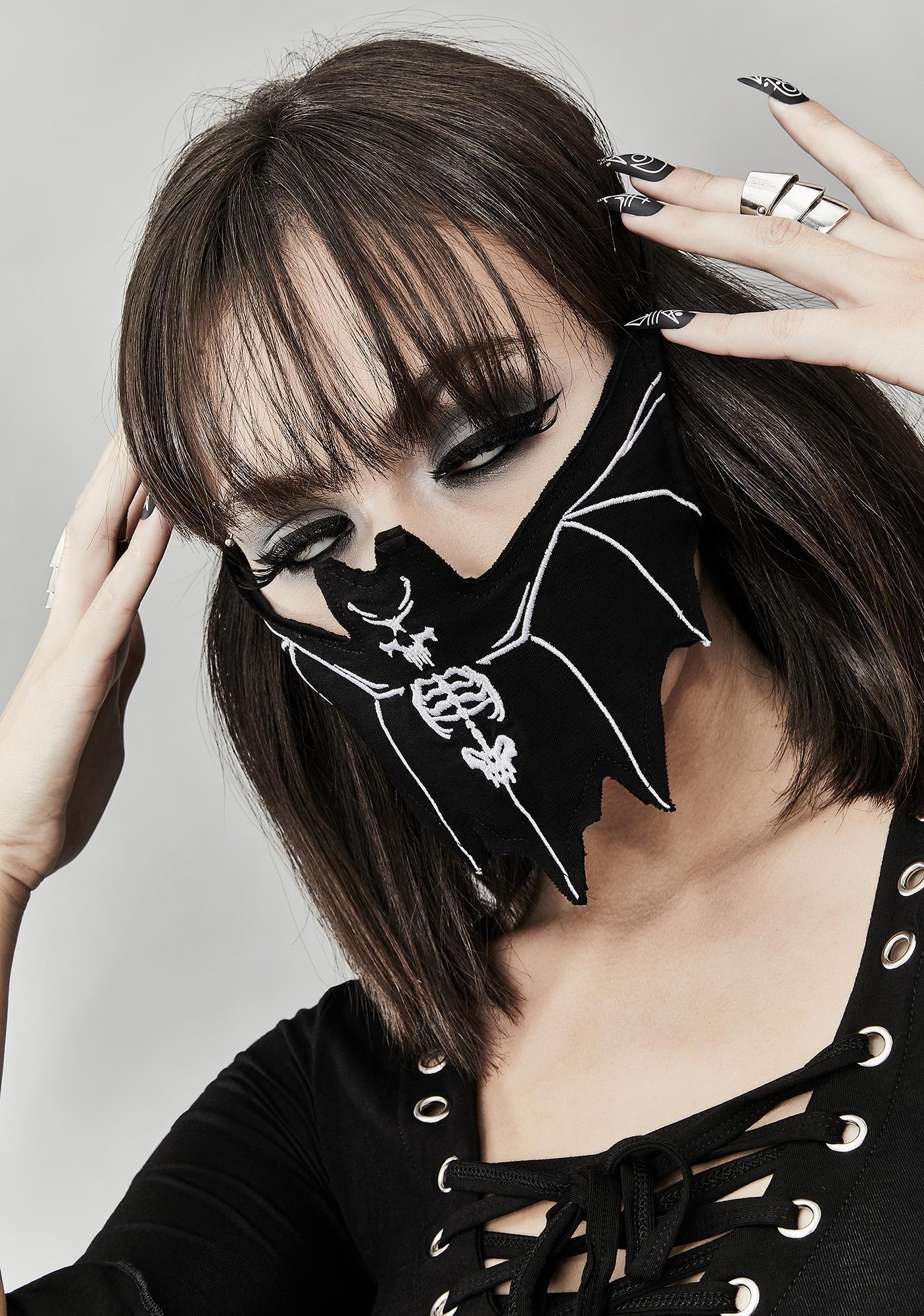 Dolls Kill Dead Of Flight Bat Face Mask