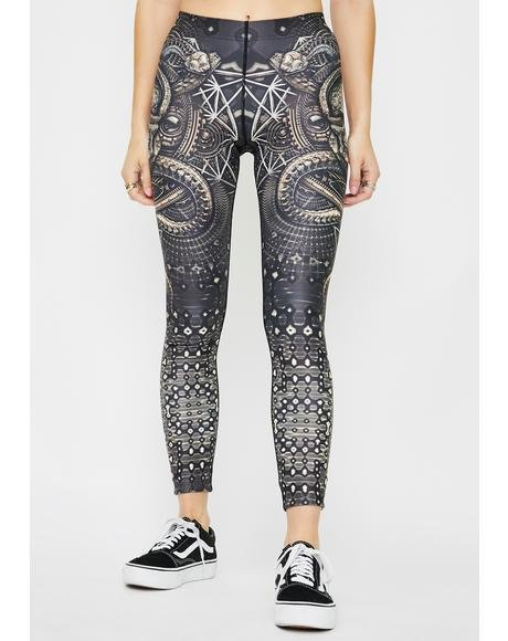 Skullodelic Lady Printed Leggings