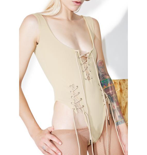 Shade London Lace-Up Bodysuit