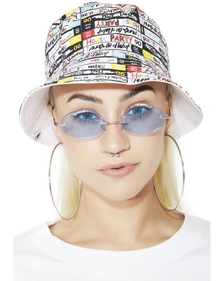 Mix Tape Reversible Bucket Hat