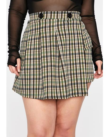 Total Know It All Plaid Skirt