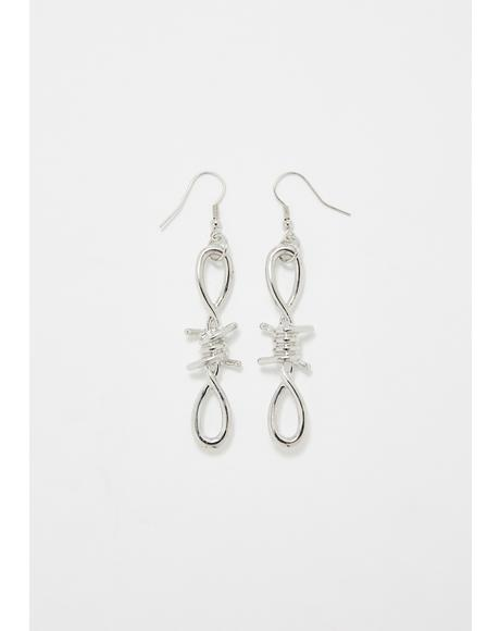 Ain't Perfect Barbed Wire Earrings