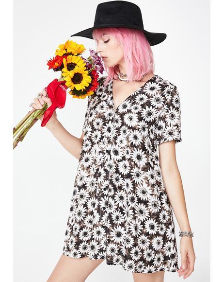 Dyed Daisy Crosena Dress