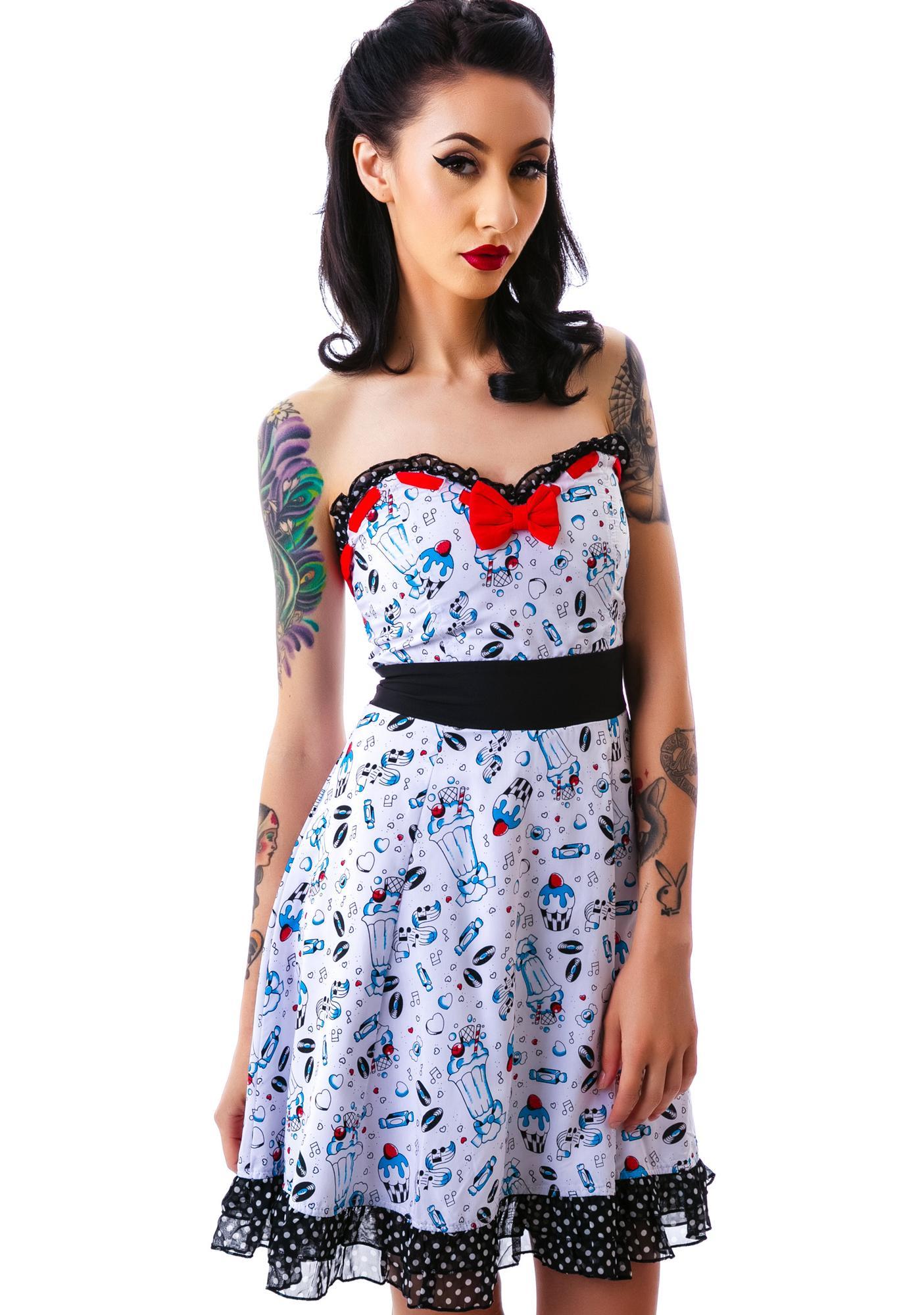 Sourpuss Clothing Erin Lazy Sundae Dress