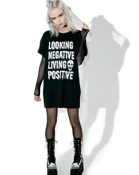 Looking Negative Living Posi Tee