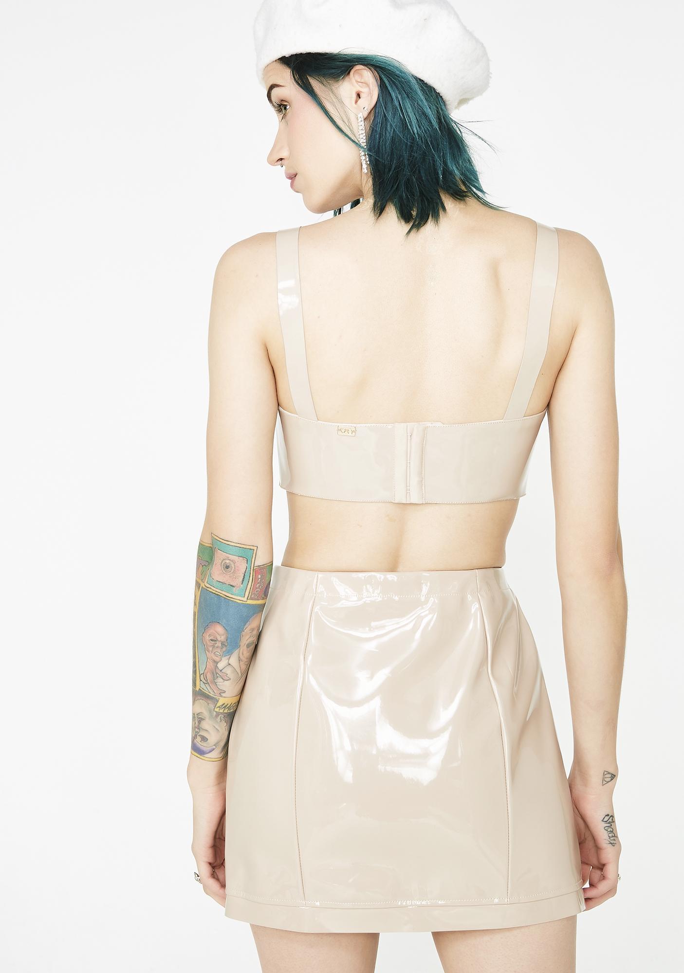 For Love & Lemons High Roller Latex Skirt