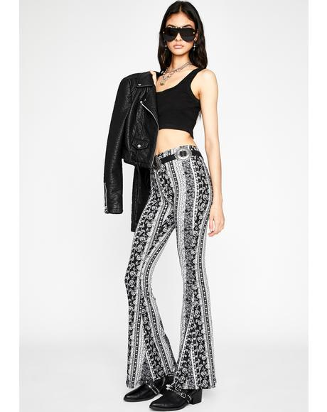 Ink Kaleidoscope Connection Flare Pants