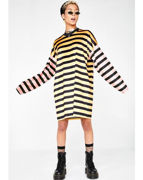 Velour Skater Dress