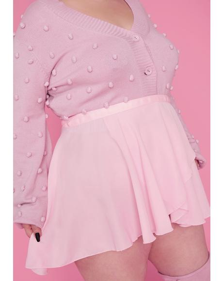 Pretty Buns N' Bows Wrap Mini Skirt