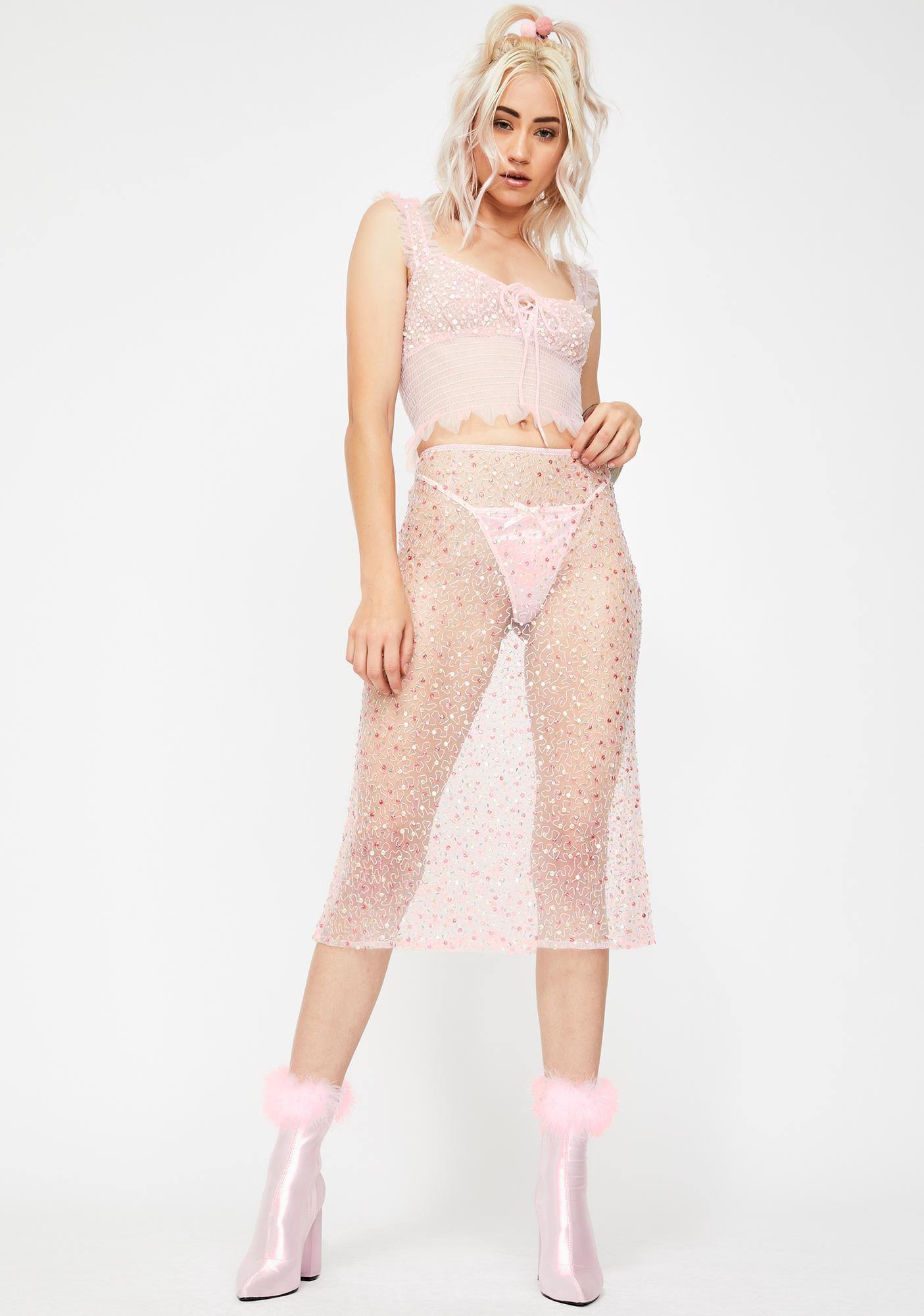Dyspnea Down With The Patriassy Midi Skirt