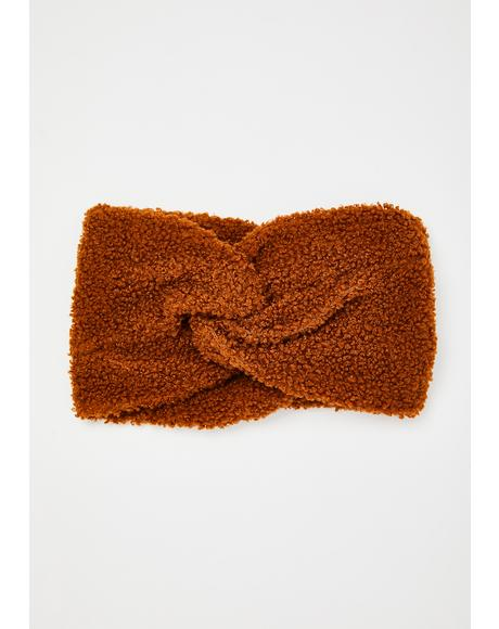 Brown Leah Teddy Headwrap