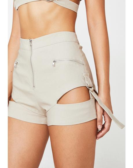 Reed Cut Out Shorts
