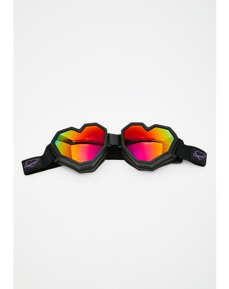 Black Heart Goggles