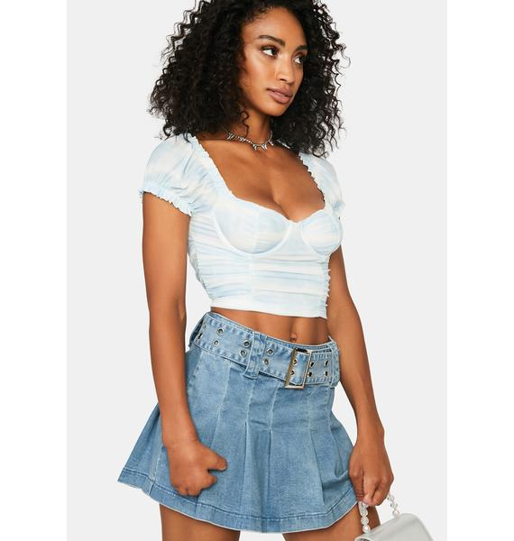 Aqua Feels Like Heaven Crop Top