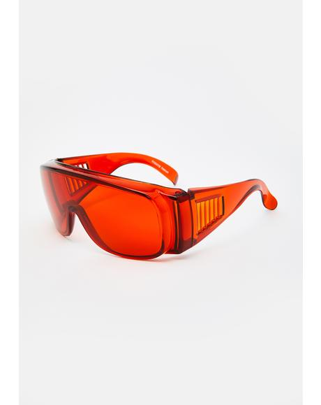 Amber Shield Sunglasses