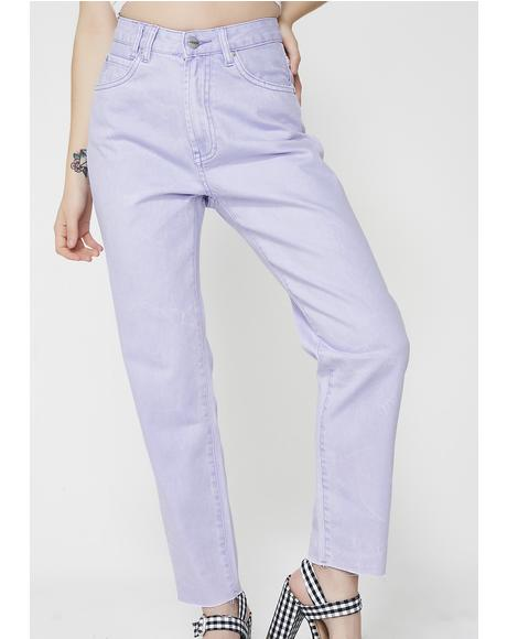 Slater Purple Tina Mom Jeans
