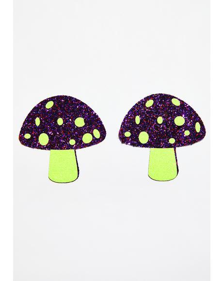 UV Neon Glitter Shroom Pasties