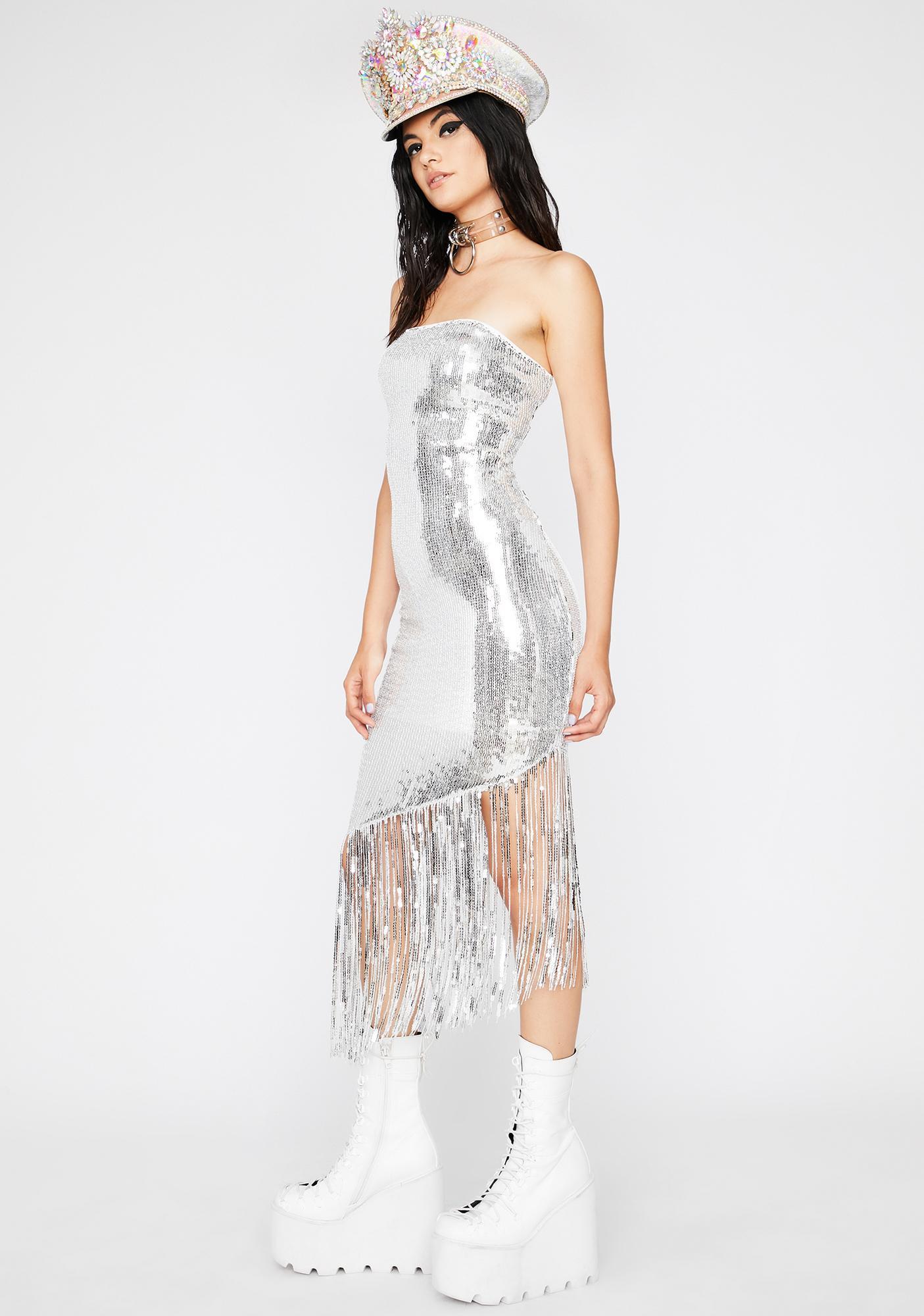Disco Flaunt Sequin Dress