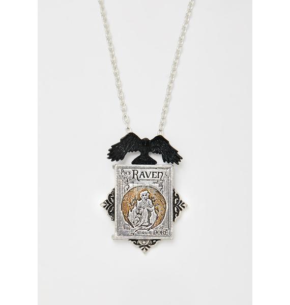 Alchemy England Poe's Raven Locket Necklace