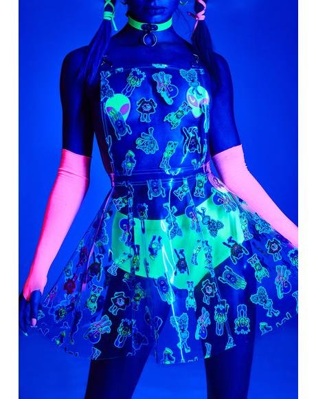Electro Terrestrial Clear Overall Dress