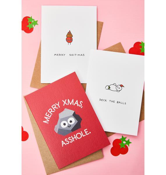 Ohh Deer Merry Xmas Asshole Card
