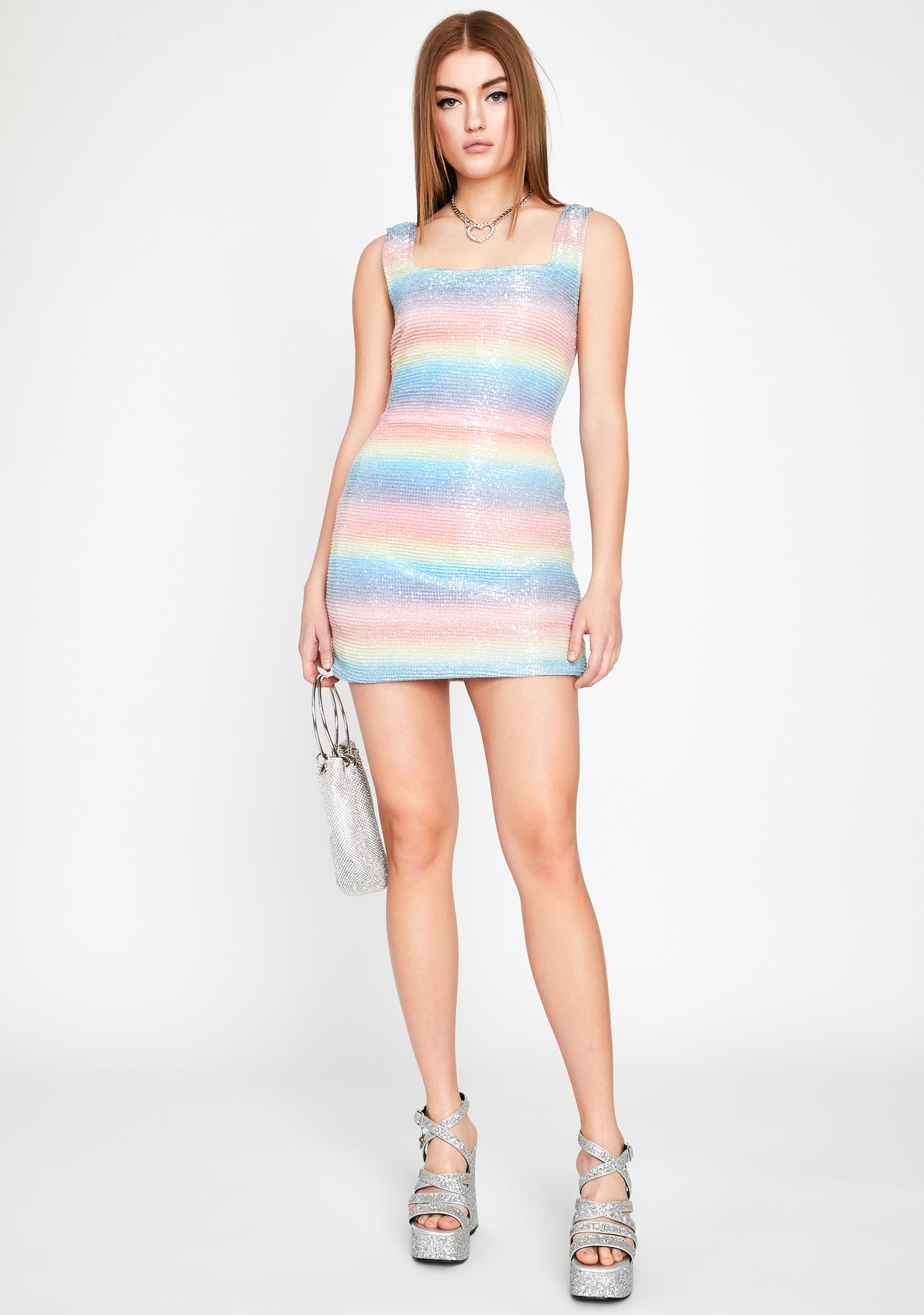 Unicorn Sundae Sequin Dress