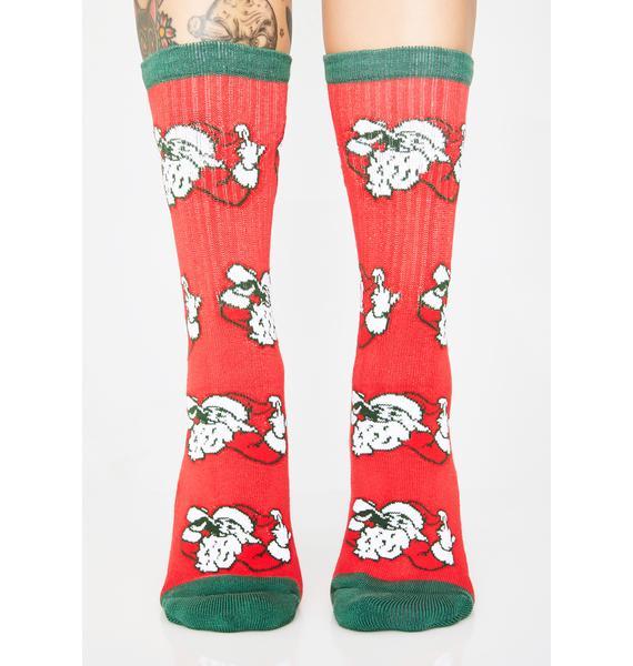 40s & Shorties Sippin Santa Socks