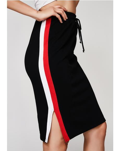 Play Your Part Striped Skirt