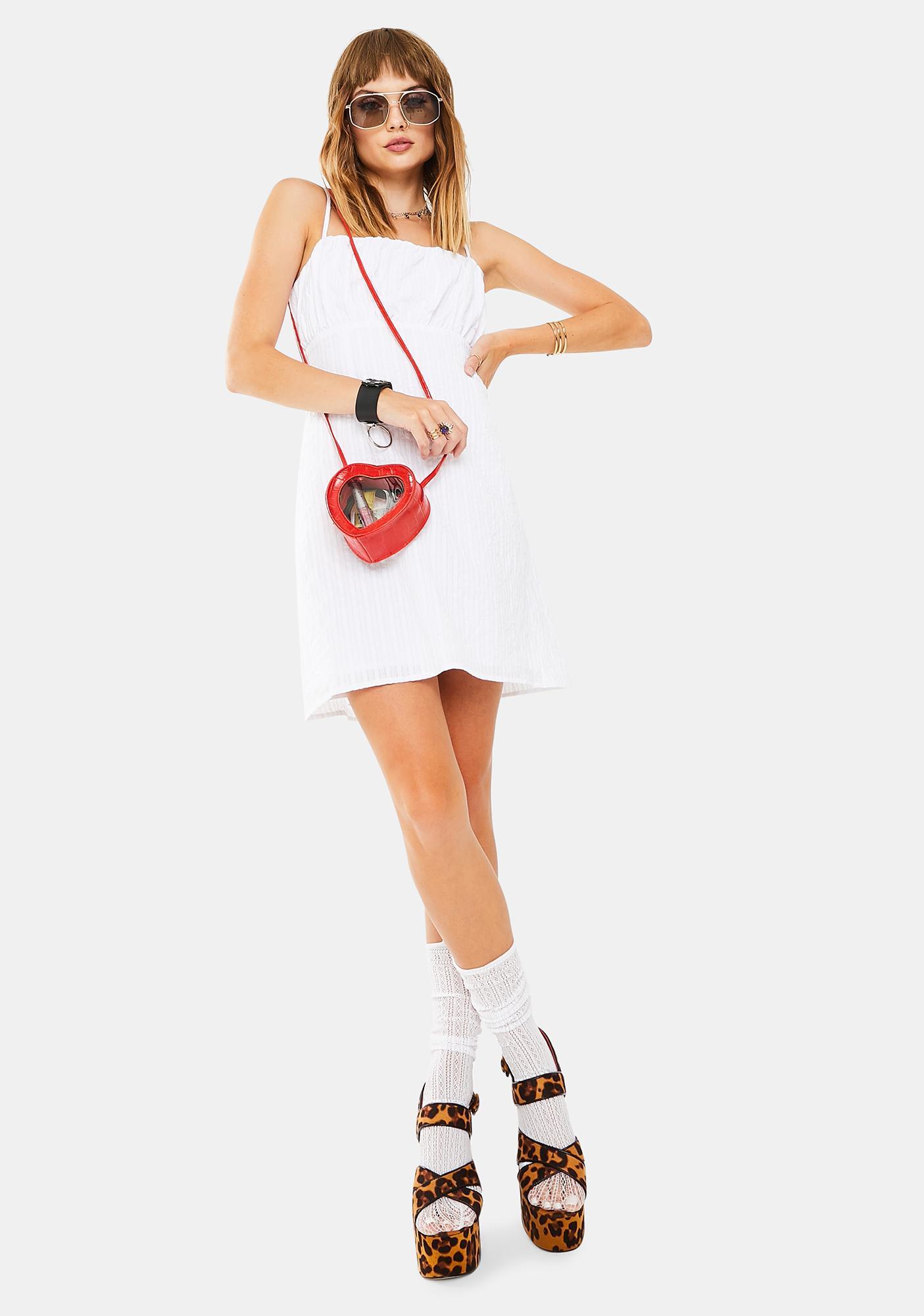 Mink Pink Heart Strings Mini Dress