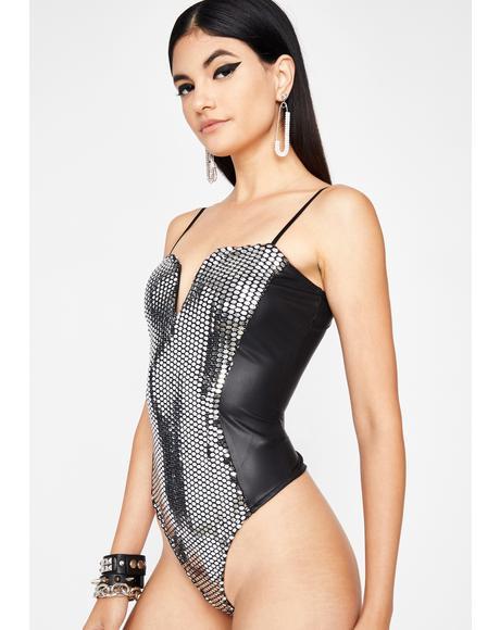 Disco Daydream Metallic Bodysuit