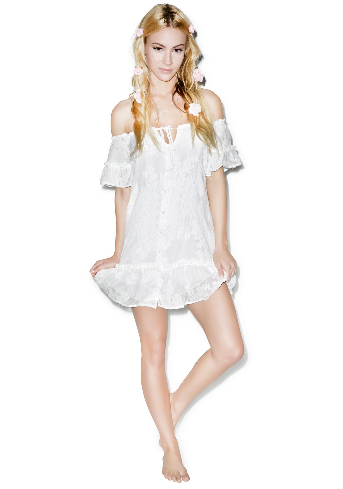For Love & Lemons Pina Colada Mini Dress