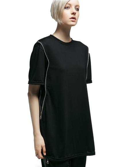 Tension Zippered Tee