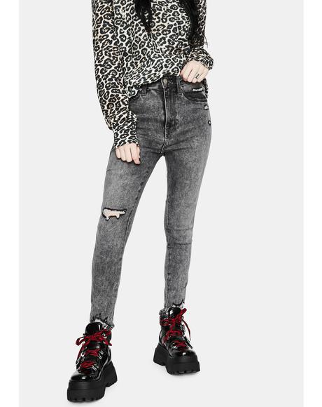 Moneymaker High Rise Skinny Jeans