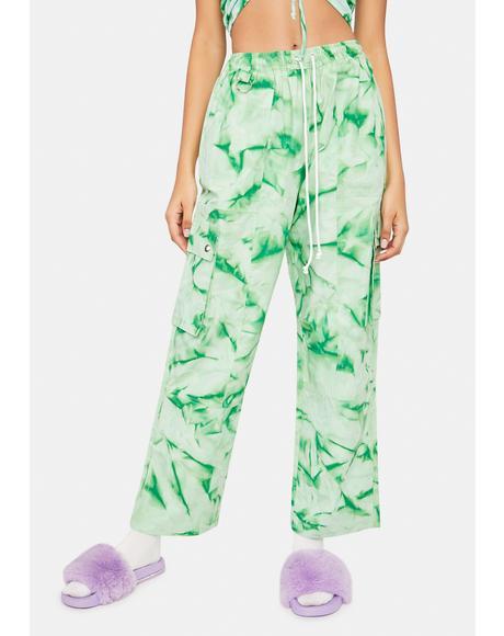 Green Get It Poppin Cargo Pants