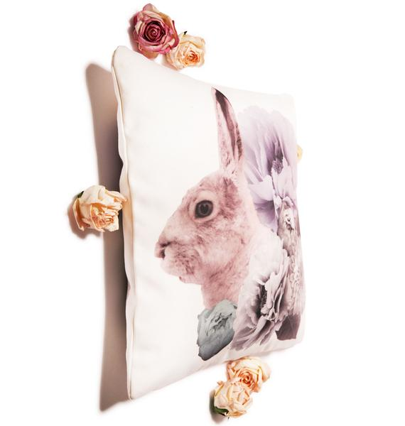 Regal Rabbit Pastel Pillow