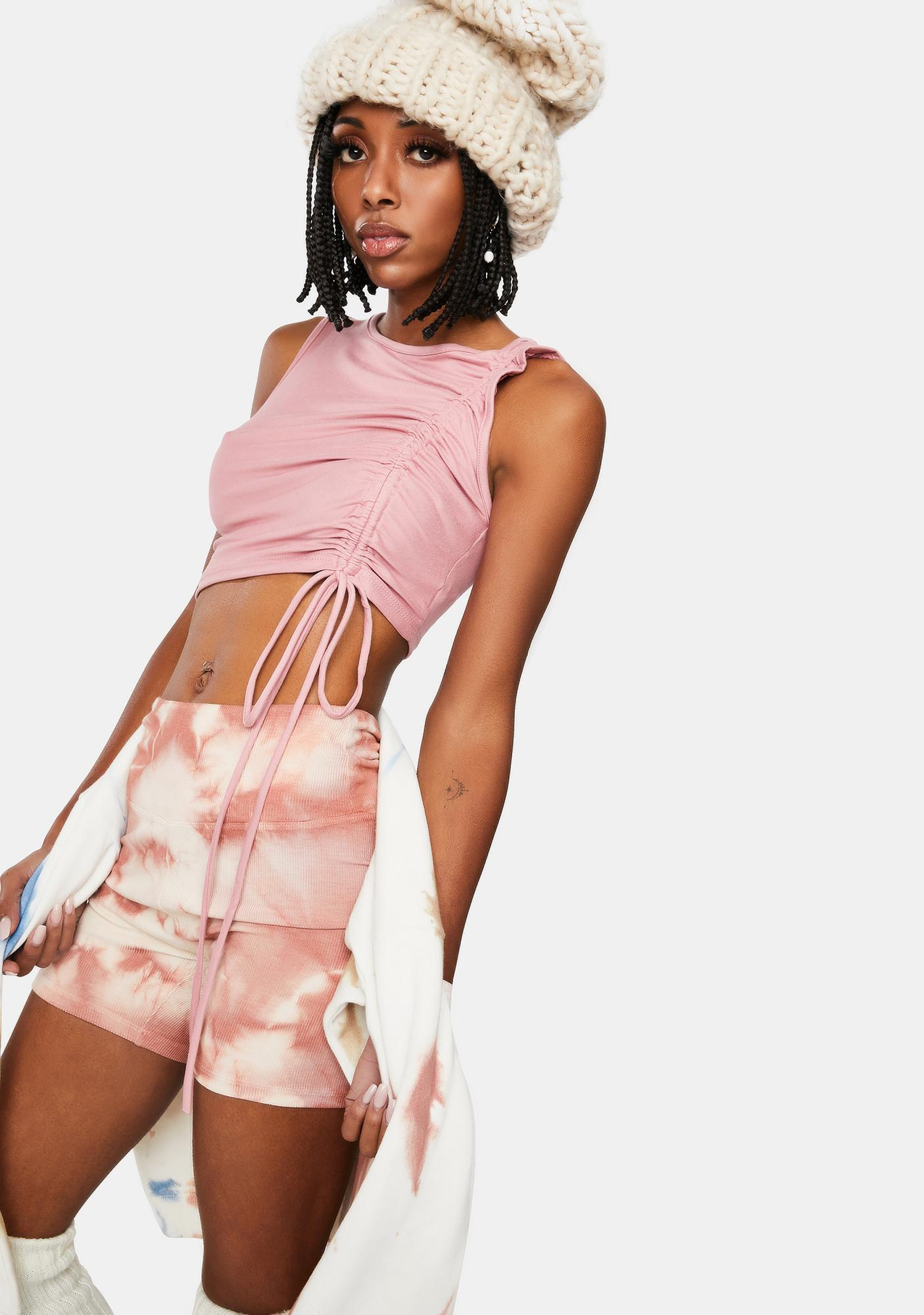 Chiller Attitude Ruched Crop Top