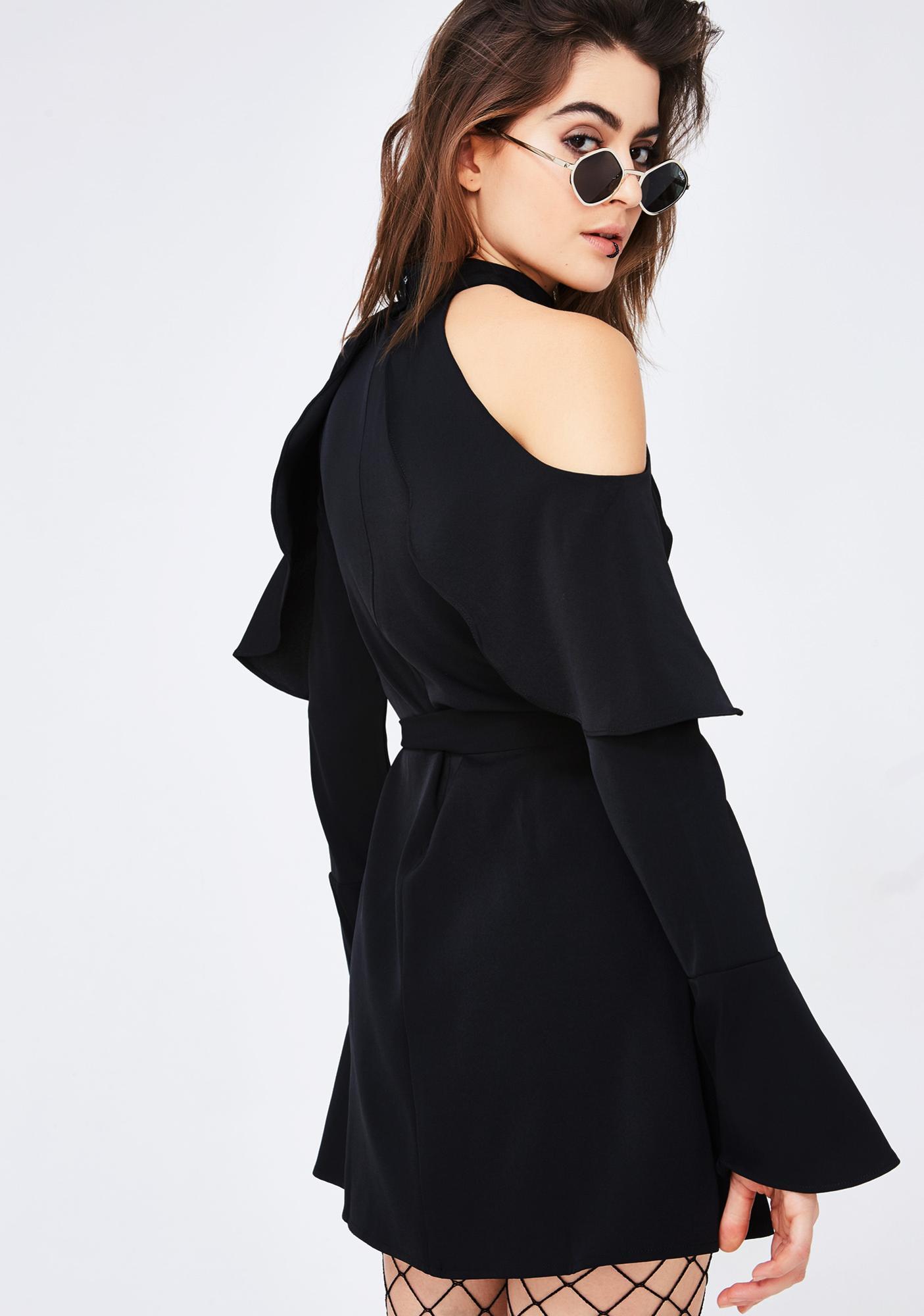 Main Idea Cold Shoulder Dress