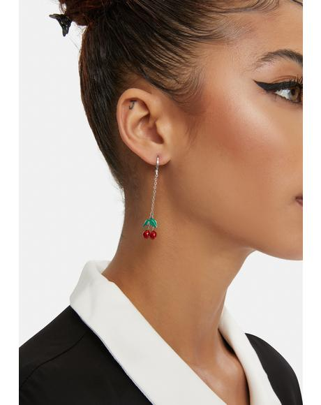 Delightfully Delicious Cherry Drop Earrings