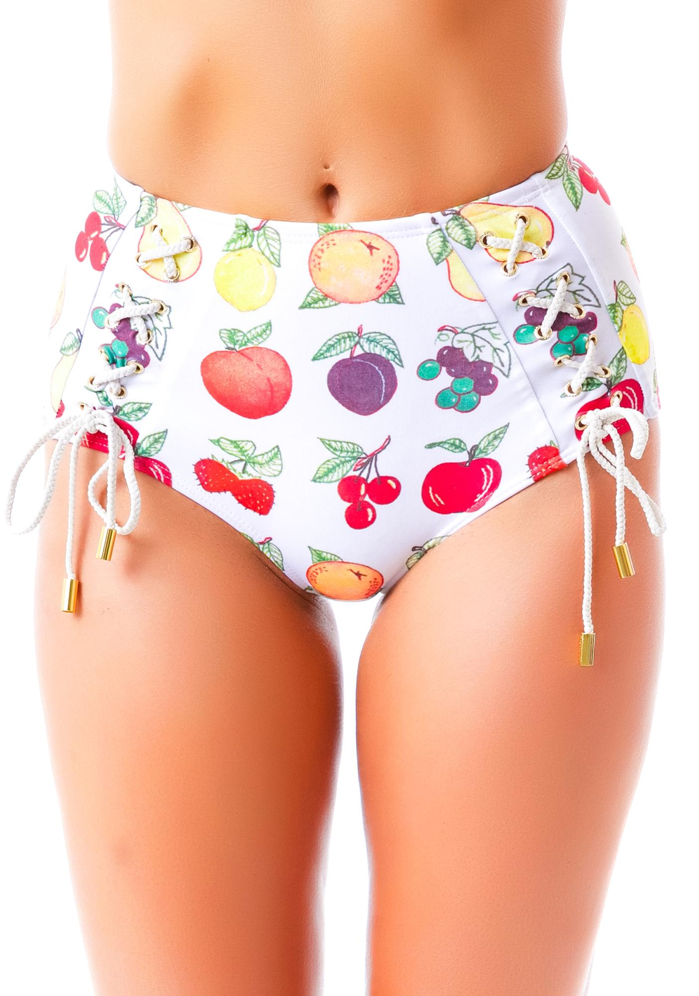 Wildfox Couture Fruit Punch Lace Up Brief
